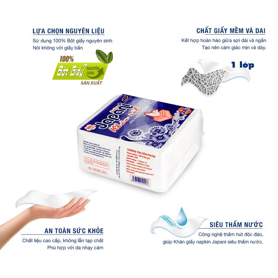 Ưu điểm Khăn giấy rút japani silk 500X