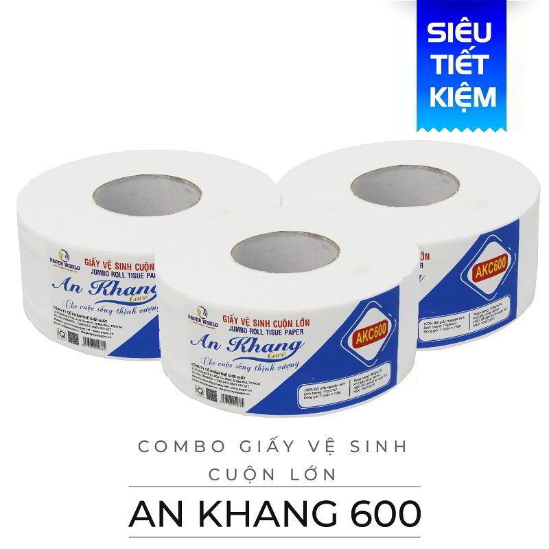 Mua giấy vệ sinh cuộn lớn an khang caro600-thegioigiay.net