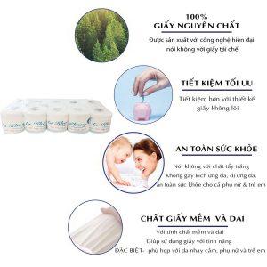 Cung cấp giấy vệ sinh cuộn nhỏ uy tín chất lượng - paper.vn