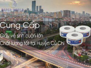 Thế Giới Giấy cung cấp giấy vệ sinh cuộn lớn tại huyện Củ Chi