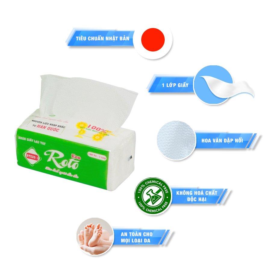Đặc điểm khăn giấy lau tay RTE20-1