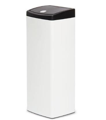 Thùng rác Premium nhấn vuông lớn Roto 9049 trắng