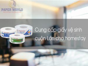 Thế Giới Giấy cung cấp giấy vệ sinh cho homestay