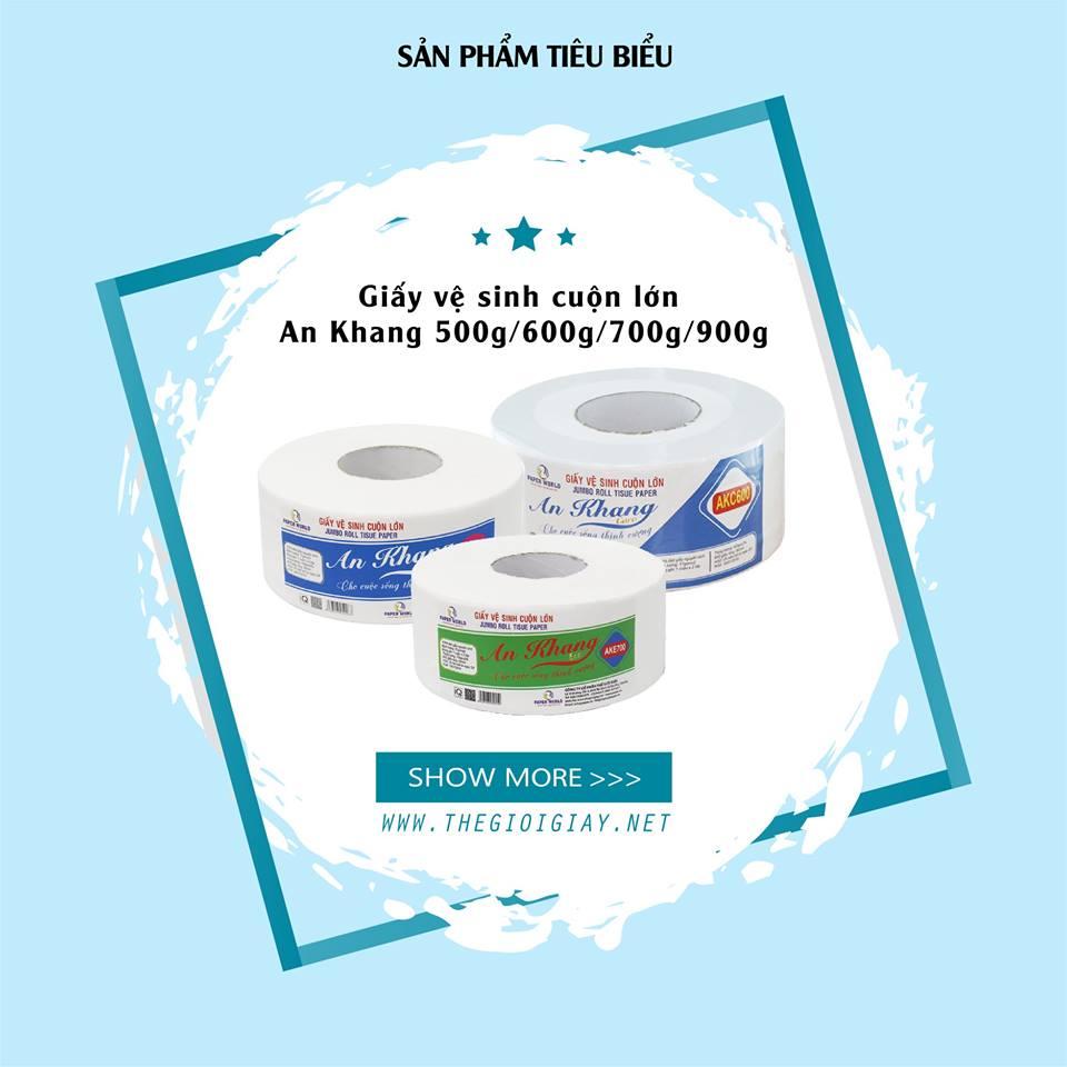 Thế Giới Giấy cung cấp giấy vệ sinh cuôn lớn chất lượng thương hiệu An Khang