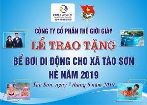 Lễ Trao Tặng Bể Bơi Di Động Cho Xã Tào Sơn