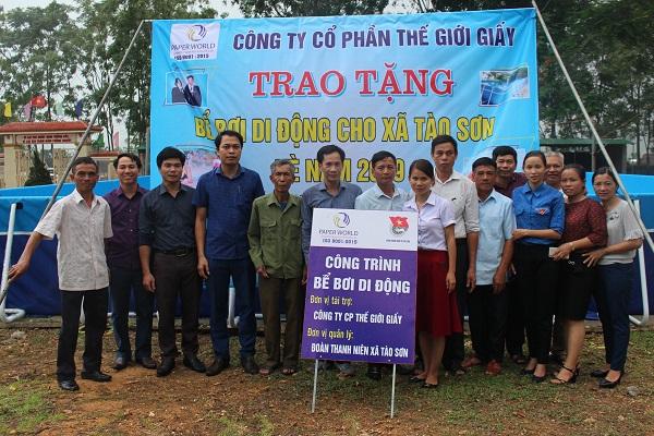 Lễ Trao Tặng Bể Bơi Di Động Cho Xã Tào Sơn - Nghệ An