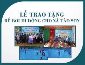 Thế Giới Giấy trao tặng bể bơi di động cho xà tào sơn - paper.vn