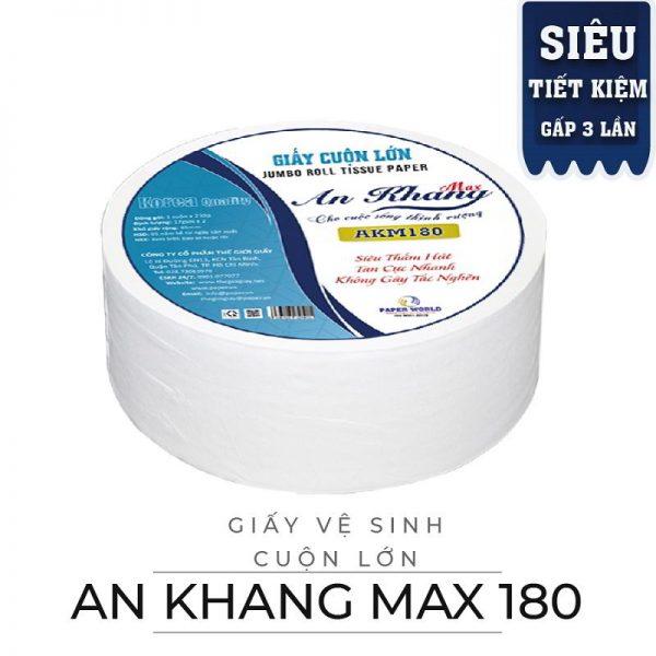 Cung cấp giấy vệ sinh cuộn lớn an khang max180-paper.vn