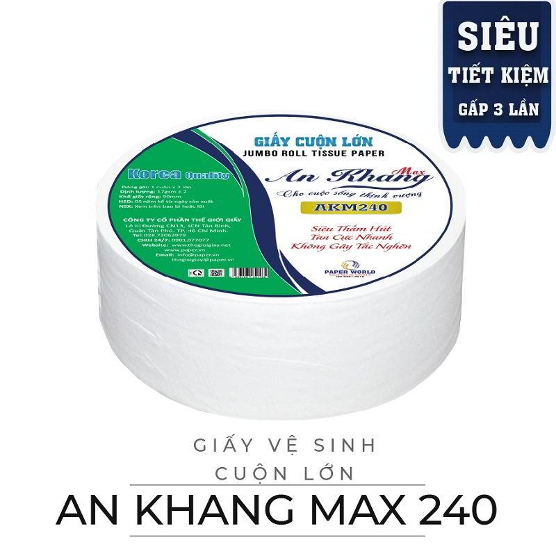 Cung cấp giấy vệ sinh cuộn lớn An Khang Max240-Paper.vn