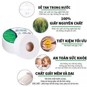 Ưu điểm của giấy vệ sinh cuộn lớn An Khang Max240