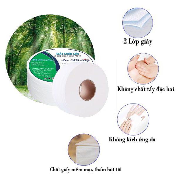Đặc điểm giấy vệ sinh cuộn lớn An Khang Max240
