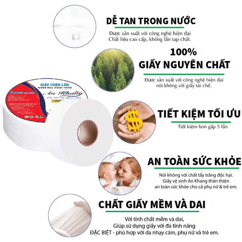Ưu điểm của giấy vệ sinh cuộn lớn An Khang Max210 - Paper.vn