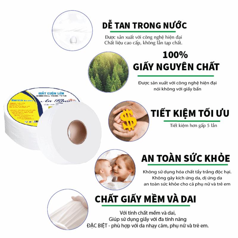 Ưu điểm của giấy vệ sinh cuộn lớn An Khang Max330