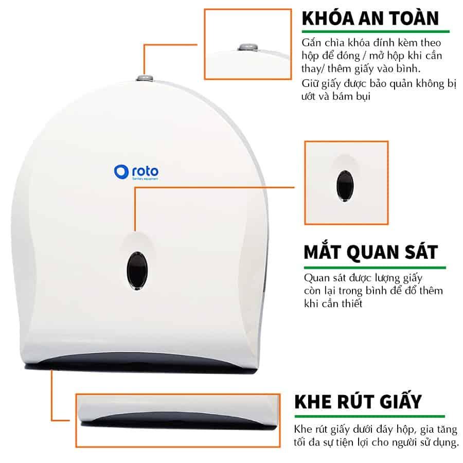 Đặc điểm của hộp đựng giấy đa năng roto802M-paper.vn