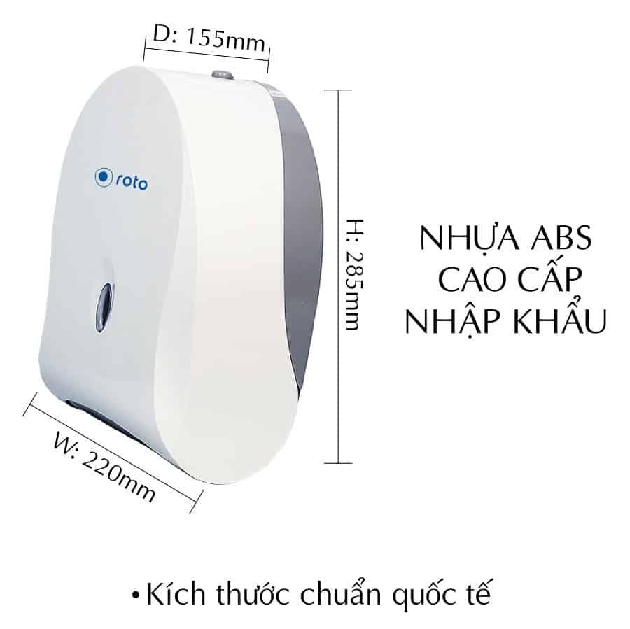 Kích thước hộp đựng giấy đa năng roto802M-paper.vn