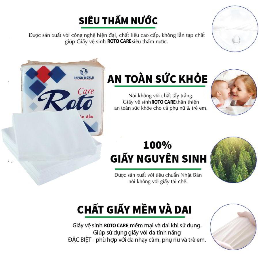 Ưu điểm của khăn giấy ăn napkin roto care102-paper.vn