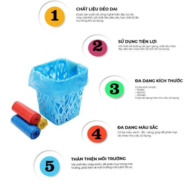 Mua túi rác màu saving ở Thế Giới Giấy