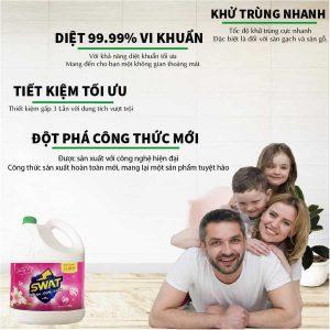 Đặc tính của nước lau sàn lily can 4 lit-paper.vn