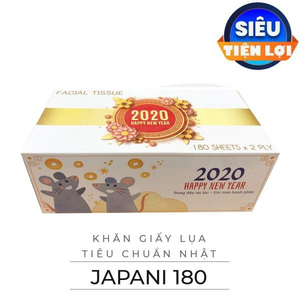 khăn giấy lụa hộp TẾT 2019 - JPS180