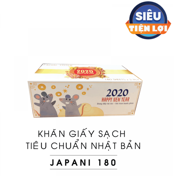 khăn giấy sạch TẾT 2020- JPS180