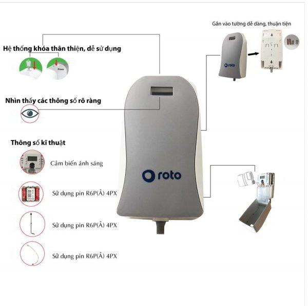 Công dụng của máy xịt khử mùi bồn tiểu roto825
