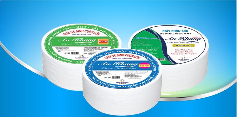 Các sản phẩm giấy cuộn lớn tại Thế Giới Giấy