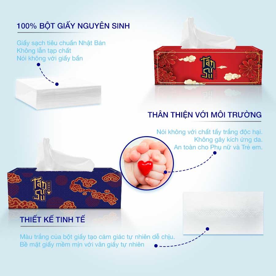 Hộp khăn giấy lụa tết
