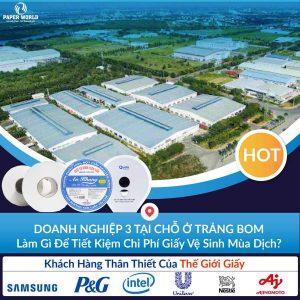 Cung cấp giấy vệ sinh công nghiệp tại Đồng Nai với giá ưu đãi 30%